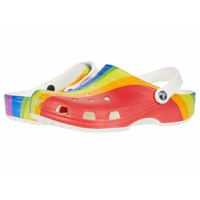 crocs クロックス レディース 女性用 シューズ 靴 クロッグ ミュール Classic Clog Seasonal Graphic Rainbow【送料無料】