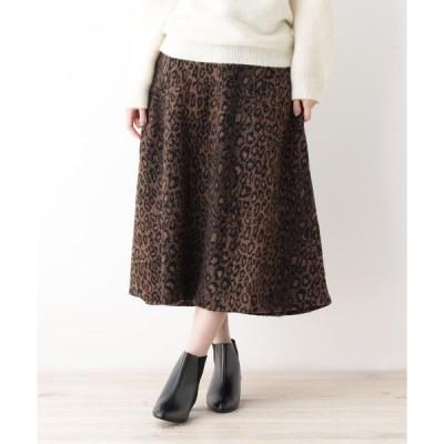 grove / グローブ レオパードAラインスカート