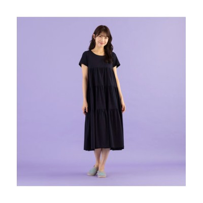【 ouchi de Rose 】マキシ丈ティアードワンピース