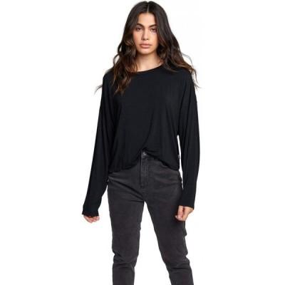 ルーカ RVCA レディース 長袖Tシャツ トップス Countdown Long Sleeve Black