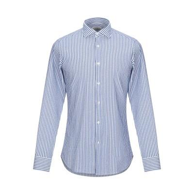 GUGLIELMINOTTI シャツ ダークブルー 39 コットン 90% / ナイロン 10% シャツ