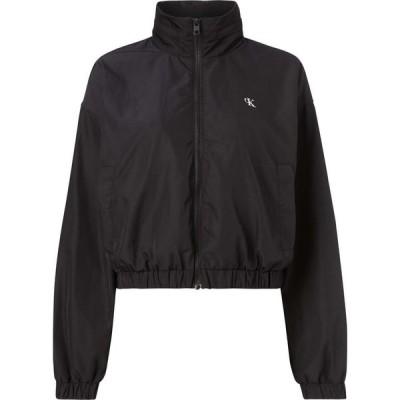 カルバンクライン Calvin Klein Jeans レディース ジャケット ウィンドブレーカー アウター Back Logo Wind Breaker Jacket BAE BLACK