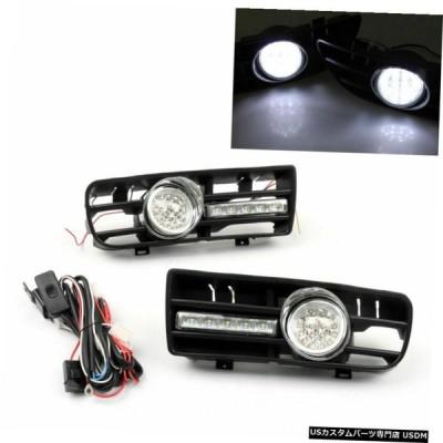 99から04 VWゴルフGTI MK4 TDI米国のためにフォグライト5 LEDフロントバンパーグリルDRLランプ Fog Light 5 LED Front Bumper Grille DRL Lamp For 99-04 VW Go