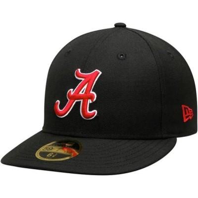 ユニセックス スポーツリーグ アメリカ大学スポーツ Alabama Crimson Tide New Era Basic Low Profile 59FIFTY Fitted Hat - Black