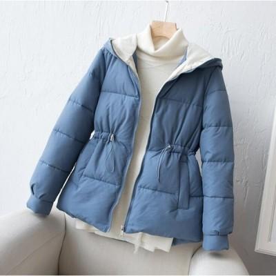 3色 レディース ダウンジャケット ショート丈 中綿ジャケット 中綿コート アウター 厚手 暖かい フード付き 大きいサイズ 40代 M~2XL
