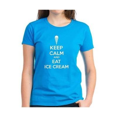 レディース 衣類 トップス Keep Calm And Eat Ice Cream Women's Dark T-Shirt Tシャツ