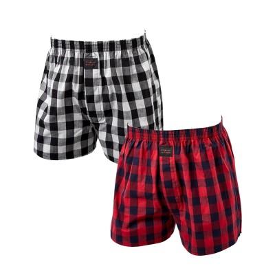 ヒロミチナカノ 綿100% 前開きチェックトランクス2枚組 トランクス, trunks, boxerbriefs