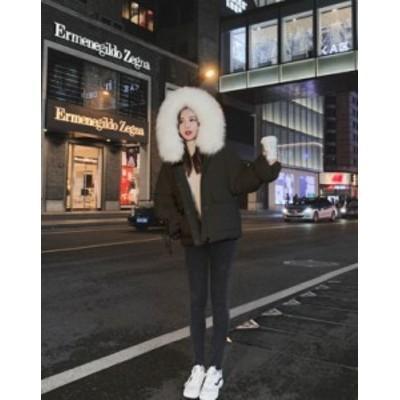 冬服 レディース ダウンジャケット レディース ショート ダウンジャケット 大きいサイズ ファー コート アウター 美ライン 2021新作 袖