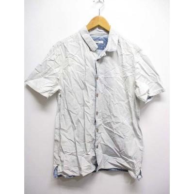 【中古】ギャップ GAP 半袖 オープンカラー シャンブレー シャツ L ブルー メンズ 【ベクトル 古着】