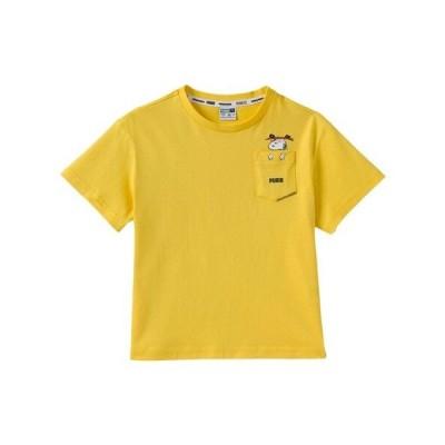 プーマ(PUMA) PUMA×PEANUTS キッズ ガールズ Tシャツ 599458 37 YEL 半袖 (キッズ)