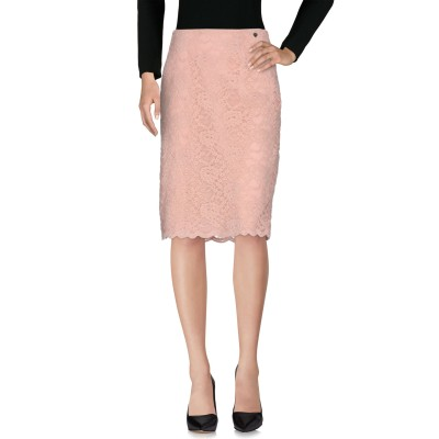 ツインセット シモーナ バルビエリ TWINSET ひざ丈スカート ピンク S ナイロン 53% / コットン 47% ひざ丈スカート