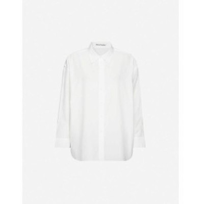 アクネ ストゥディオズ ACNE STUDIOS レディース ブラウス・シャツ トップス Relaxed-fit cotton-poplin shirt White