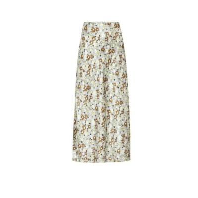 リーマシューズ Lee Mathews レディース ひざ丈スカート スカート Bella floral silk-satin midi skirt Floral Mint