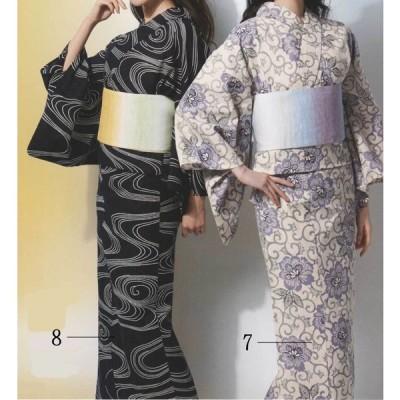 浴衣 レディース 本染 古典柄 源氏物語・麻と綿の布・反物販売 No.05