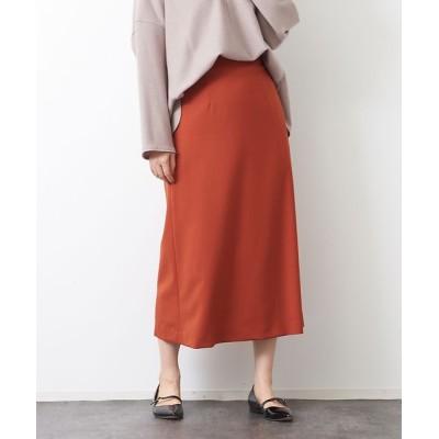 Rouge vif la cle/ルージュ・ヴィフ ラクレ ウール混セミフレアスカート オレンジ 38