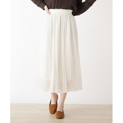 スカート シフォンカラースカート