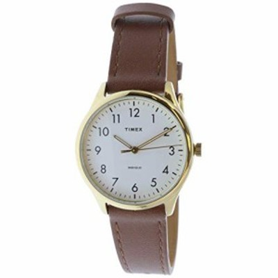 腕時計 タイメックス レディース Timex Women's Easy Reader TW2T72300 Brown Leather Analog Quartz F