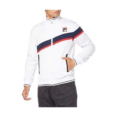 [フィラ テニス] テニス トラックジャケット ストレッチ VM5500 メンズ ホワイト 日本 M (日本サイズM相当)