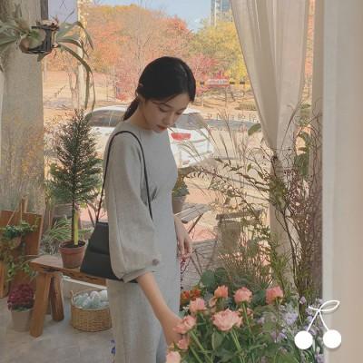 スリムフィットピンタック·ロングドレス CHERRYKOKO公式 ハイクォリティー 韓国ファッション✯送料無料✯