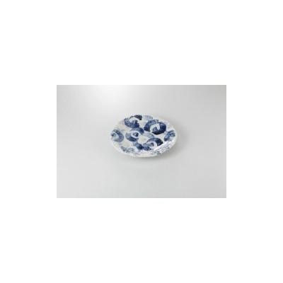 和食器 藍彩 ちぎり8.0皿 36K199-05 まごころ第36集 【キャンセル/返品不可】