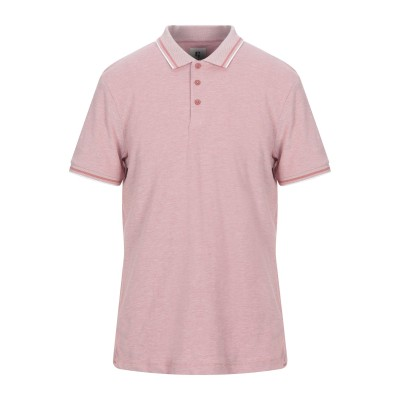 GARCIA ポロシャツ パステルピンク L コットン 100% ポロシャツ