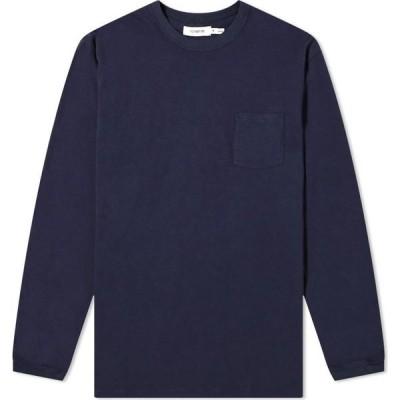 ノンネイティブ Nonnative メンズ 長袖Tシャツ トップス long sleeve dweller classic tee Navy