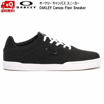 オークリー キャンバス スニーカー ジェット ブラック OAKLEY Canvas Flyer Sneaker Jet Black 13551-01K