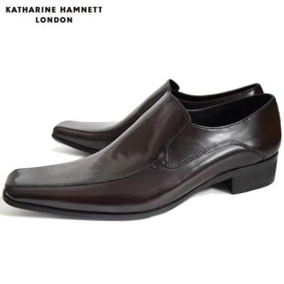 KATHARINE HAMNETT キャサリンハムネットメンズビジネスシューズ KH3946 ダークブラウン