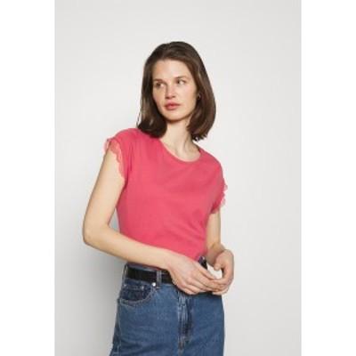 イー ディ シー バイ エスプリ レディース Tシャツ トップス Print T-shirt - pink pink