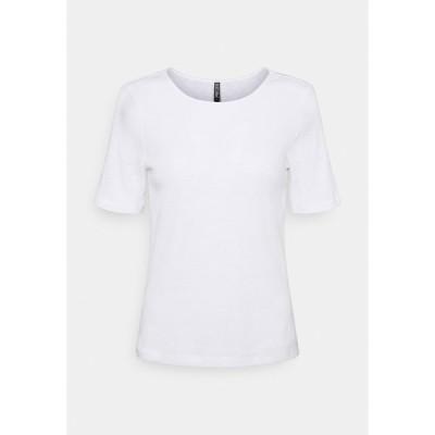 ピーシーズ Tシャツ レディース トップス PCLASA TEE LOUNGE  - Print T-shirt - bright white