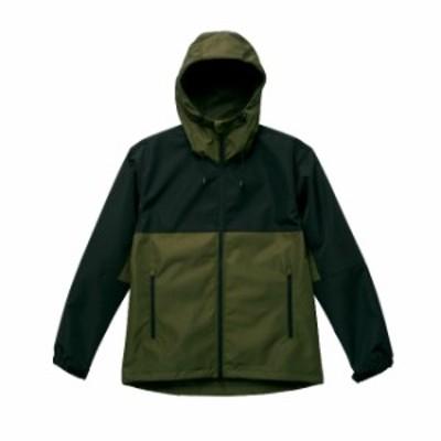 スイッチング シェルパーカ ジャケット メンズ アウトドア XL サイズ オリーブ/ブラック 無地 ユナイテッドアスレ CAB