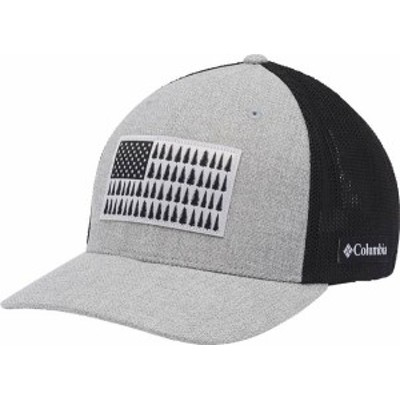 コロンビア メンズ 帽子 アクセサリー Columbia Men's Mesh Tree Flag Ball Cap Grill Heather/Shark