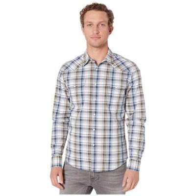 ラッキーブランド Lucky Brand メンズ シャツ ウエスタンシャツ トップス Long Sleeve Santa Fe Western Shirt Blue Plaid