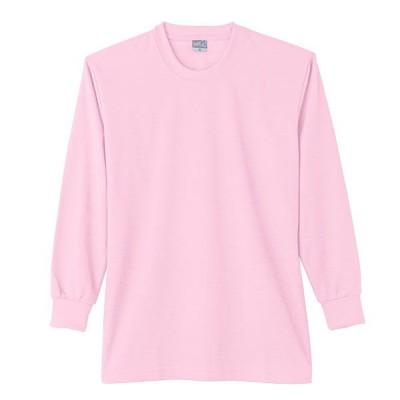 【ワークウェア・作業用ポロシャツ】小倉屋 DRYシリーズ DRY 長袖Tシャツ ピンク 9009-13-L 1枚(直送品)