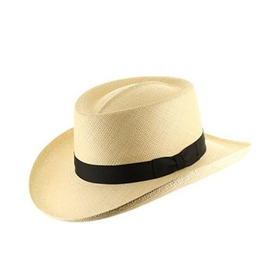 Ultrafino Hollywood Gambler Mens Straw Panama Hat 7 3/8【並行輸入品】