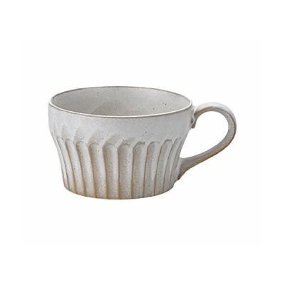 見谷陶器 濃釉鎬スープカップ粉引