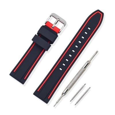 時計 ベルト 腕時計 ベルト 時計 ベルト ラバー 腕時計ストラップ 防水 スポーツ 柔らか - 18mm 20mm 22mm 24mm シリコーンゴム 時計 の ベルト 時計バンド 替え
