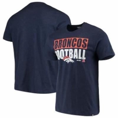 47 フォーティーセブン スポーツ用品  47 Denver Broncos Heathered Navy Blockout Club T-Shirt