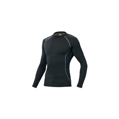 アイトス コンプレスフィットシャツ TULTEX(R) COOL INPACT 長袖タイプ Lサイズ ブラック AZ-10610-010-L