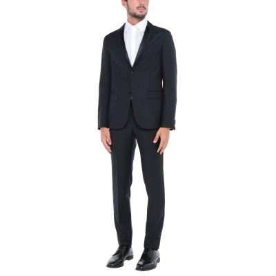 ZZEGNA スーツ ブラック 50 ウール 71% / モヘヤ 29% スーツ