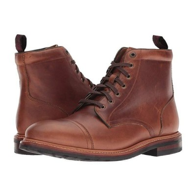 フローシャイム Foundry Cap Toe Lace-Up Boot メンズ ブーツ Saddle Tan Horween