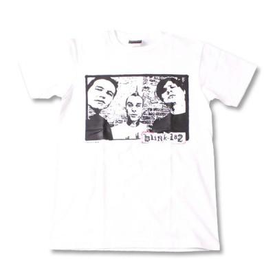 Tシャツ バンドTシャツ ロックTシャツ 半袖 (W) ブリンク 182 BLINK 182 1 WHT S/S 白
