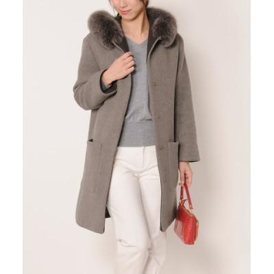 三京商会 / タスマニアリバーウールロングコート日本製 WOMEN ジャケット/アウター > ステンカラーコート