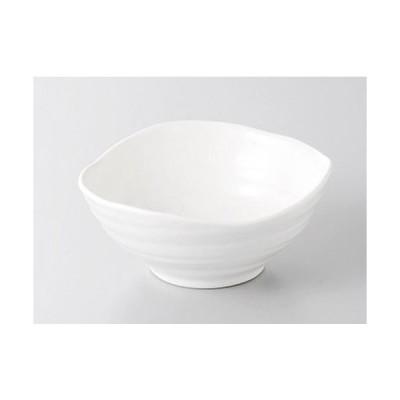 呑水 白変形ボール鉢 [11.7 x 11.2 x 5cm] 強化 料亭 旅館 和食器 飲食店 業務用