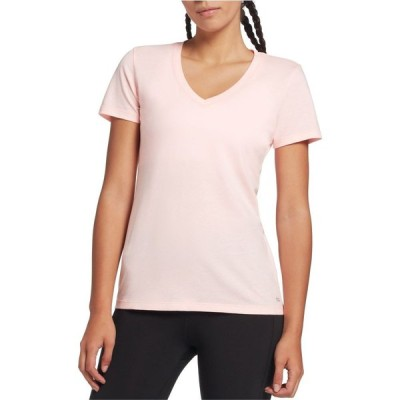 DSG レディース Tシャツ Vネック トップス Core Cotton Jersey V-Neck T-Shirt Peach Sorbet Heather