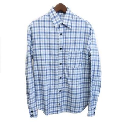 【7月9日値下】The Elder Statesman チェックシャツ ブルー サイズ:XXS (銀座店)