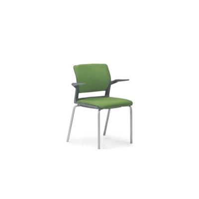 アイコ ミーティングチェア 椅子 会議用イス 会議チェア 肘付 4本脚タイプ MC-254