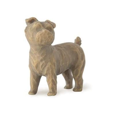 犬の置物 高さ5cm ウィローツリー 彫像 Love my Dog (small, standing) - 私の愛犬