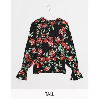 ワイエーエス レディース シャツ トップス Y.A.S Tall Davida volume sleeve floral blouse
