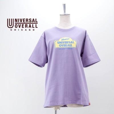 (SALE 30%OFF)UNIVERSAL OVERALL ユニバーサルオーバーオール ユニセックス サルーングラフィックTシャツ(U2113232-A)(2021SS)(返品交換不可)